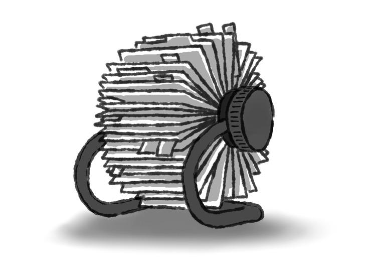 Illustration of a Rolodex